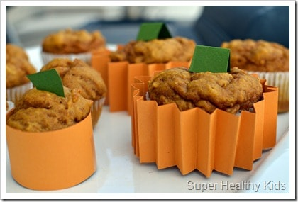 Whole Wheat Pumpkin Muffins. This recipe doubles as decoration!
