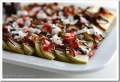Fruit Nachos. A Sweet and Healthy Treat. Freshly shaved coconut makes these apple nachos even better!