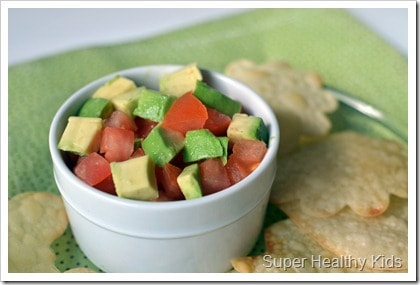 Sweet and Saucy Avocados and Chips. If you love avocado, then you need to check out this dip recipe!