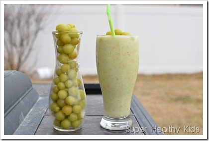 Sweet and Sour Grape Smoothie. Lots of reasons to freeze grapes! Check out our smoothie for the best one!