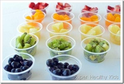 Healthy Desserts: Rainbow Sundae Bar. A healthy twist on a Sundae favorite!