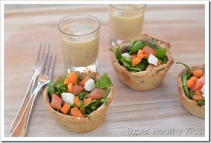 bread bowl salad with dressing