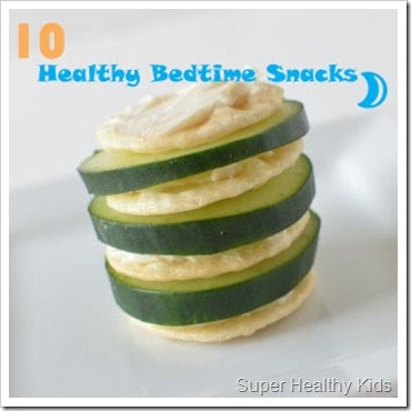 Bedtime Snacks: 10 Quick and Healthy Ideas. Here's a quick bedtime snack that might tide them over till morning!