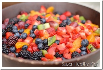 Fruit Salad and The Healthiest Diet for Kids. This one feeds a lot! Perfect for a potluck.