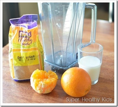 Orange Waffles and All-Natural Homemade Creamy Orange Syrup. Get your daily dose of Vitamins C early in the day!