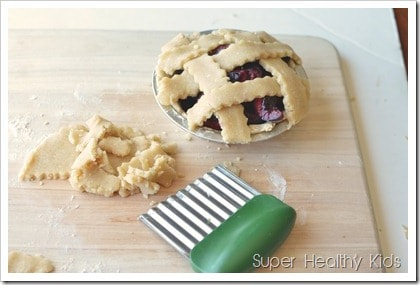 Mini Cherry Pie- Sugar Free and Sweet as Can Be! See how easily you can make pie from scratch!