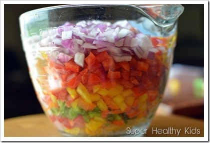 Potluck Party Pepper Salad. Bring this to your next potluck!