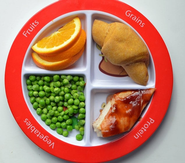bbq chicken meal on a super healthy kids plate, 30 Quick and Easy Last Minute Dinner Ideas