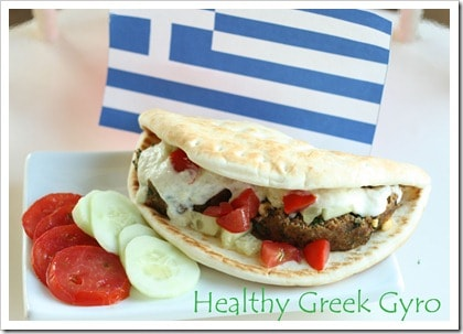 Healthy Greek Gyro Recipe. Our favorite way to make Gyro's at home.