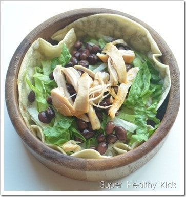 Fresh and Tasty Mexican Crockpot Summer Salad Recipe. Turn a quick salad into your kids favorite dinner!