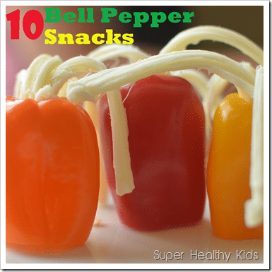 10 Bell Pepper Snacks. Bell peppers are super versatile...here are our 10 favorite snacks!