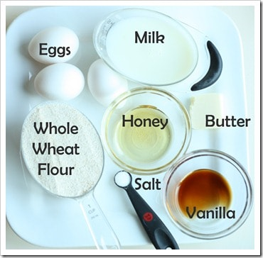 Whole wheat crepes made with these simple ingredients.